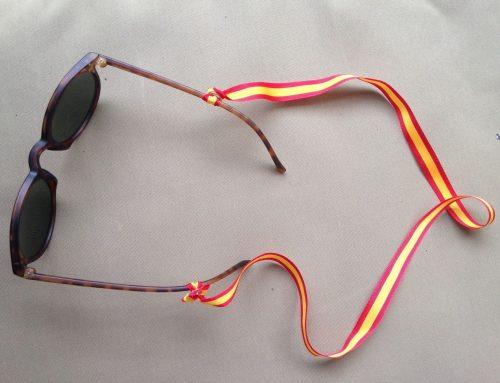 La bandera de España en tus gafas