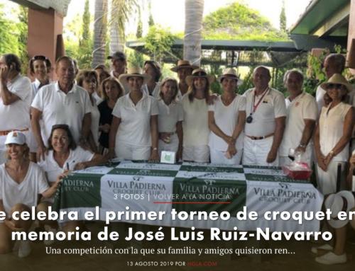 II TORNEO PRIVADO DE CRÓQUET.  MEMORIAL JOSÉ LUIS RUIZ-NAVARRO
